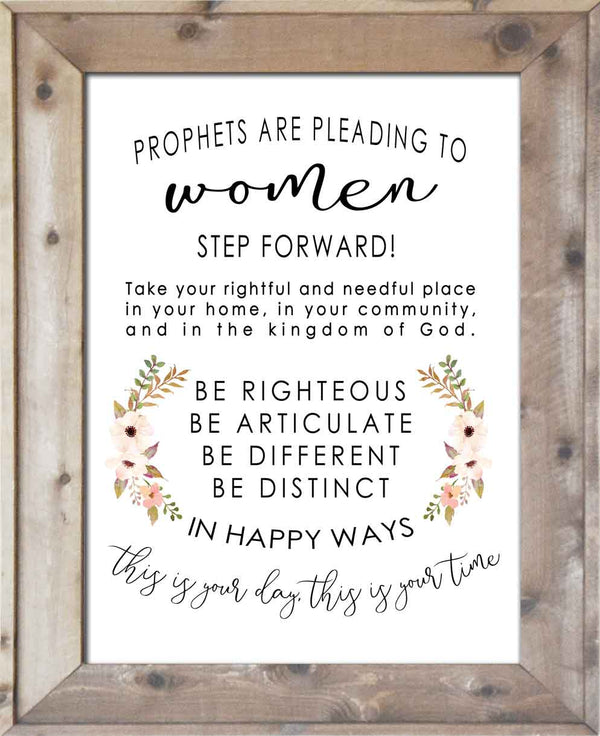 Prophets Are Pleading to Women