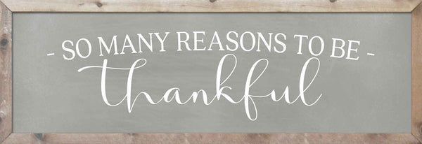 So Many Reasons to be Thankful