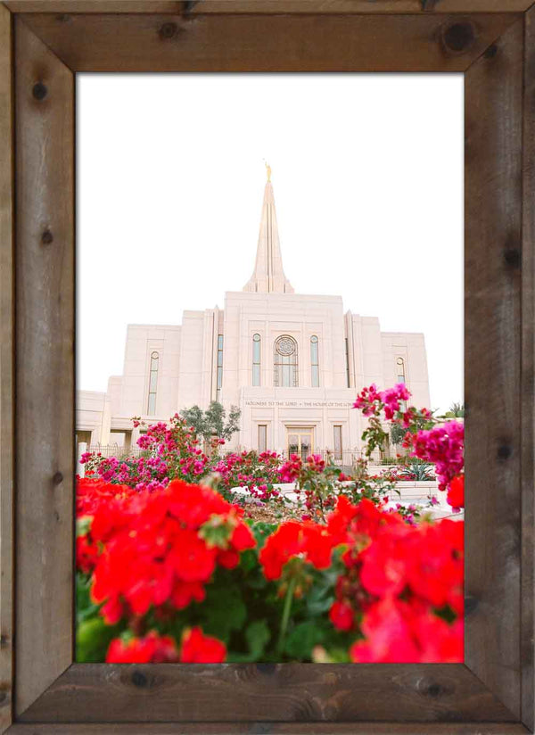 Gilbert Temple - Red Flowers