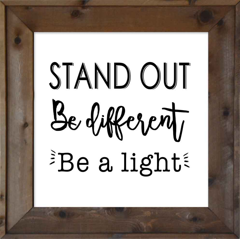 Stand Out - Be Different - Be a Light: Lord\'s Youth Battalion