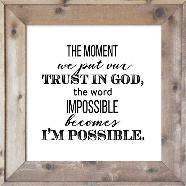 Trust in God - I'm Possible