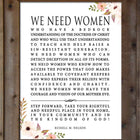We Need Women with Flowers - President Russell M. Nelson