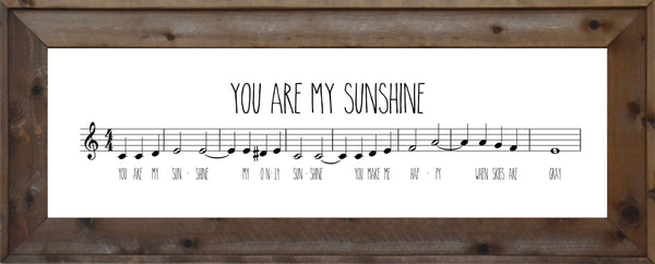 You Are My Sunshine - Music