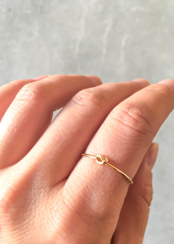 Knot Ring - 14K Gold Filled - AMĒNAH