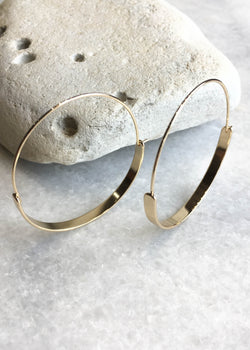 Modern Hoops - 14K Gold filled - AMĒNAH