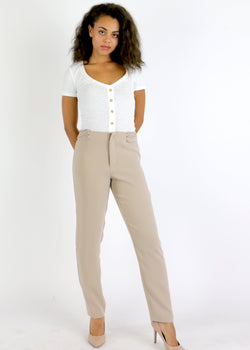 Loop Side Straight Trouser - AMĒNAH