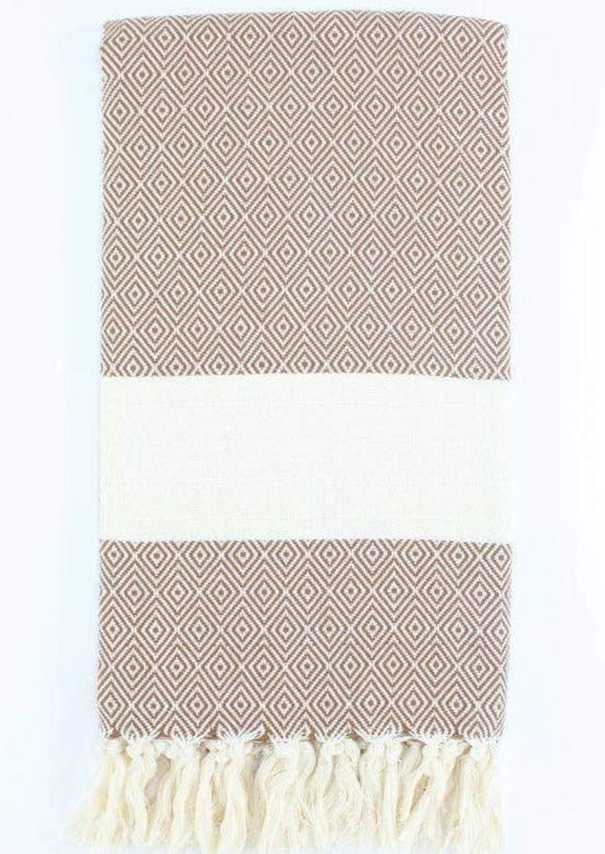 Turkish Towel - Brown Diamond
