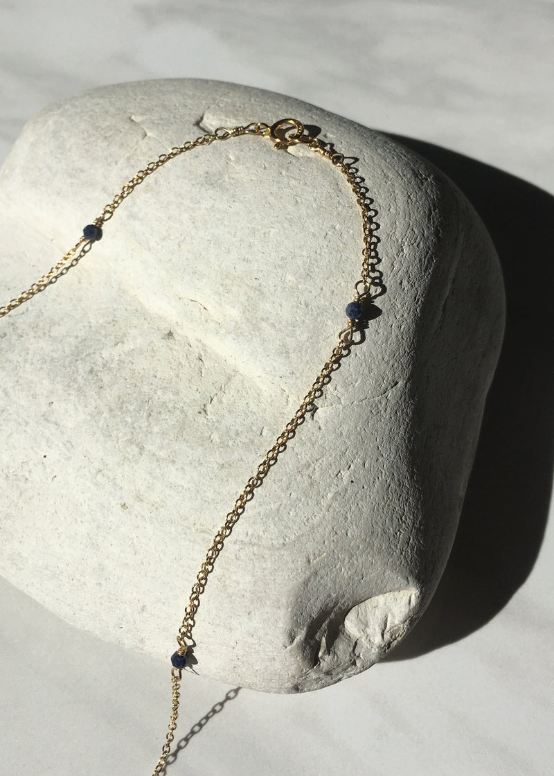 Sapphire Gold Filled Layering Necklace