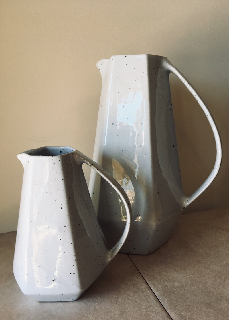 Speckle Glaze Geo Water Pitcher - Small