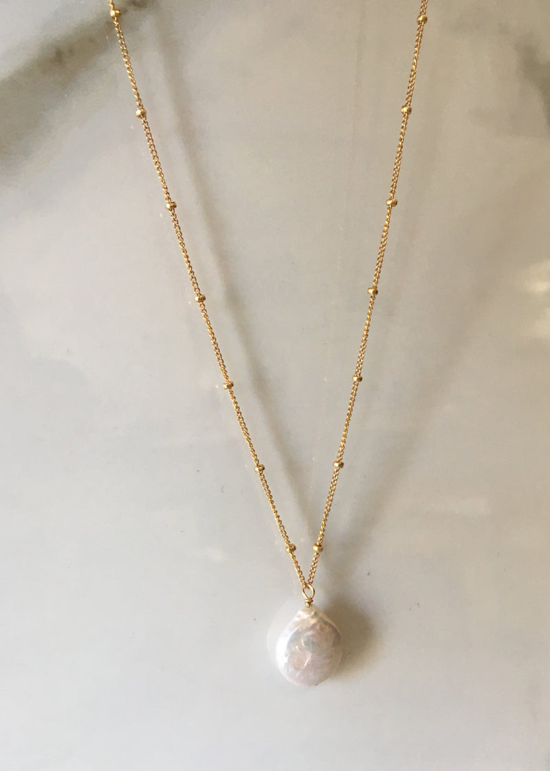 Freshwater Pearl Gold Filled Necklace