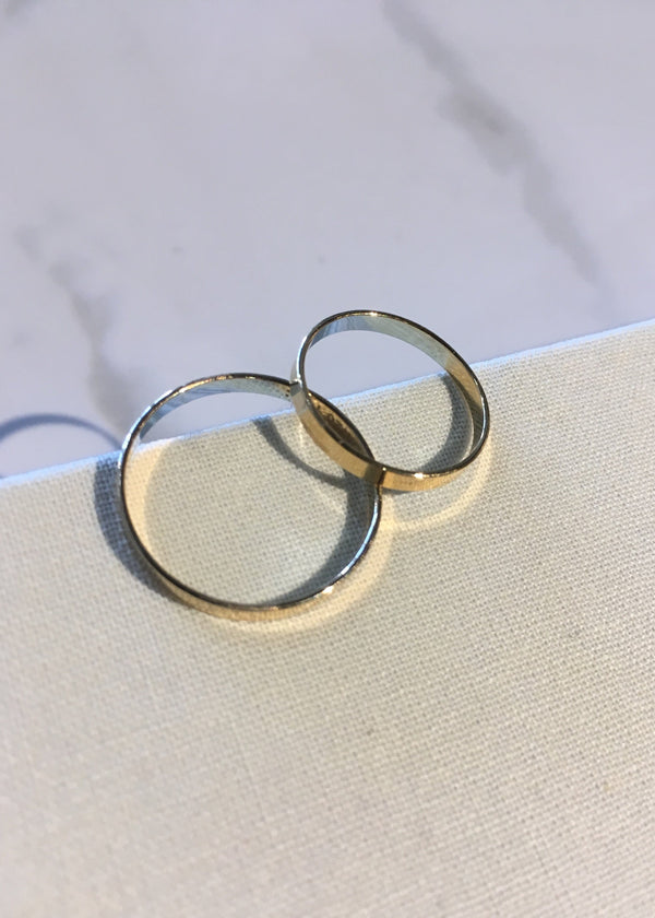 Flat Stacking Ring - 14k GF