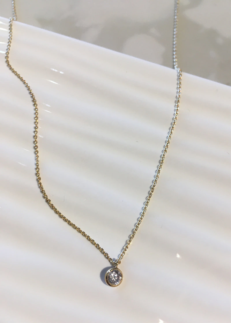 Cubic Zirconia Gold Filled Necklace