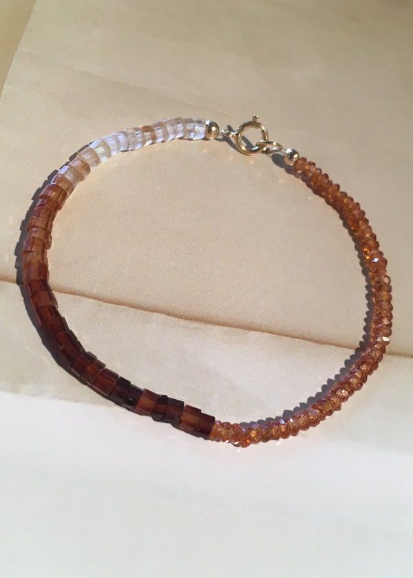 Agate + Quartz Beaded Bracelet