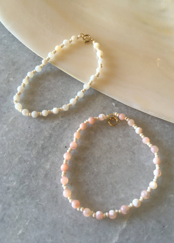 Tonal Shell Beaded Bracelet