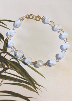 Cracked Quartz Beaded Bracelet