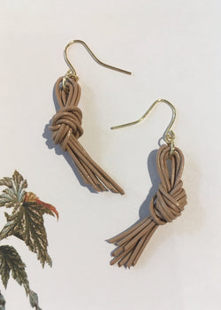 Leather Knot Earrings