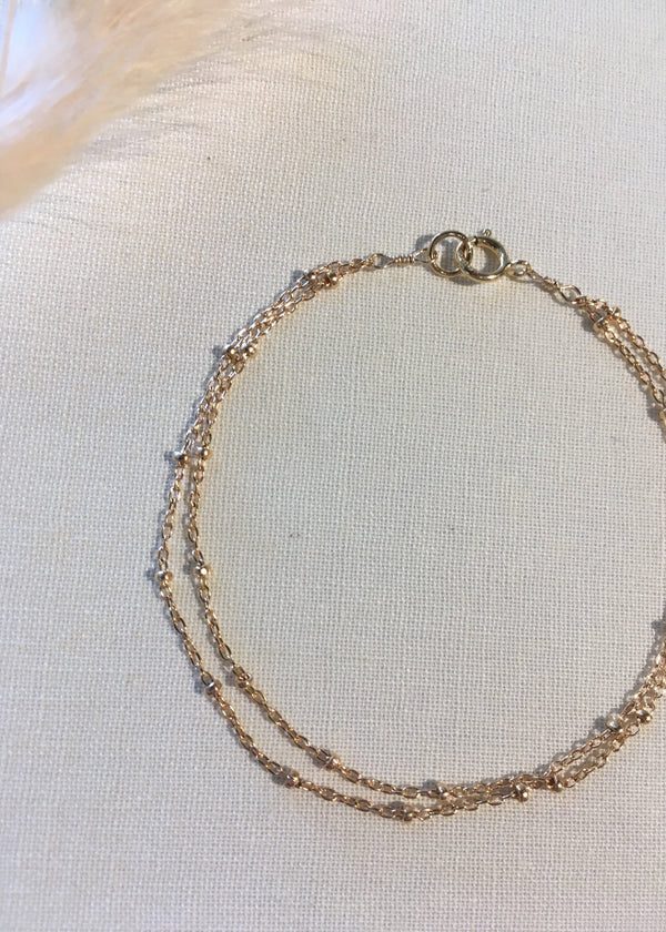 Gold Fill Satellite Chain Bracelet