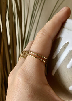 Thick Stacking Ring - 14k GF