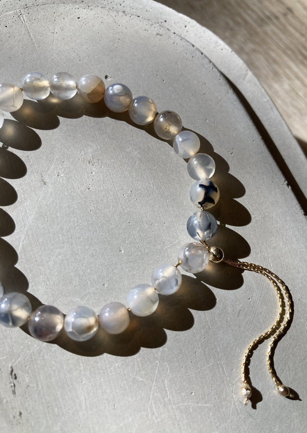 Rutilated Quartz Gold Fill Adjustable Bracelet