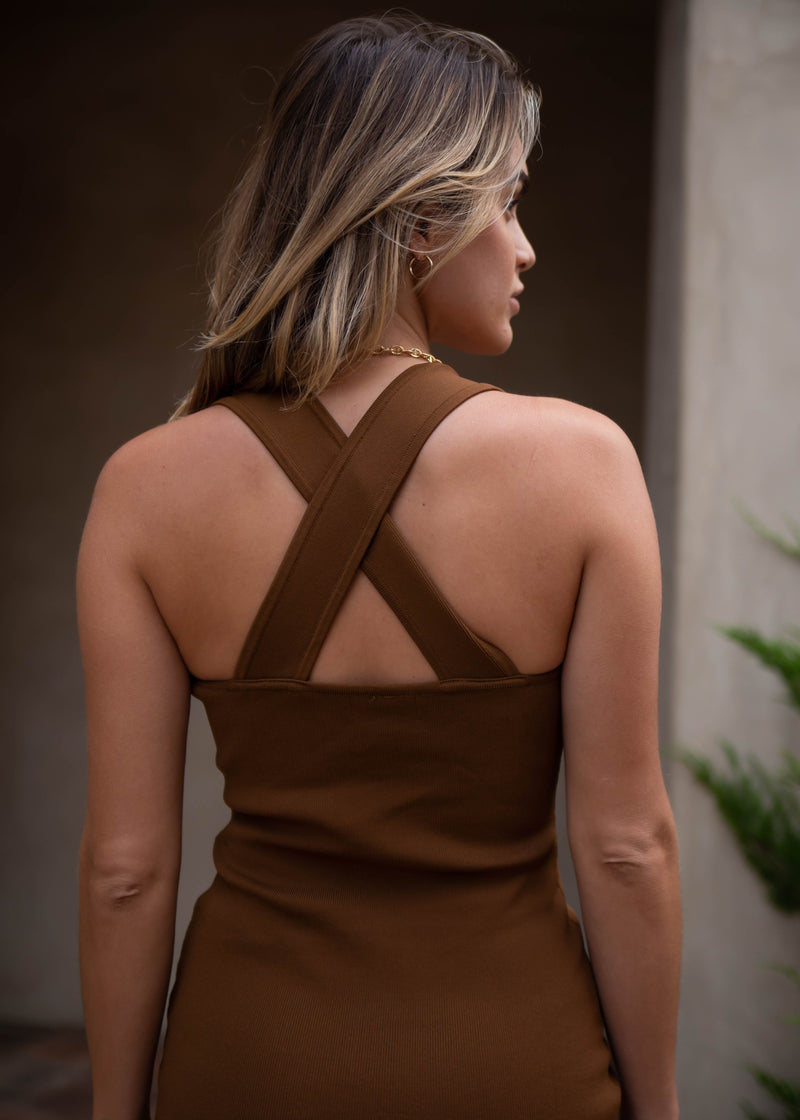 La Brea Bodycon Dress - Mocha