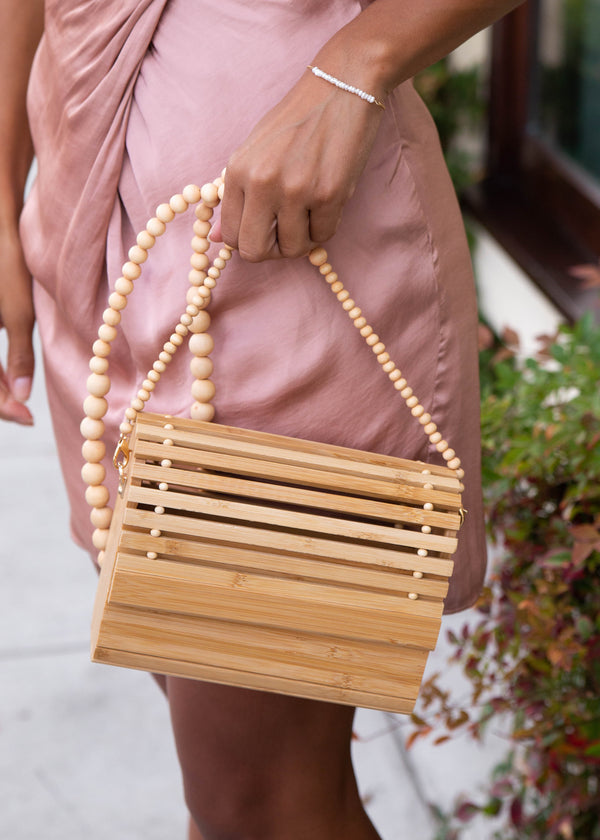 Bamboo + Wood Bead Bag