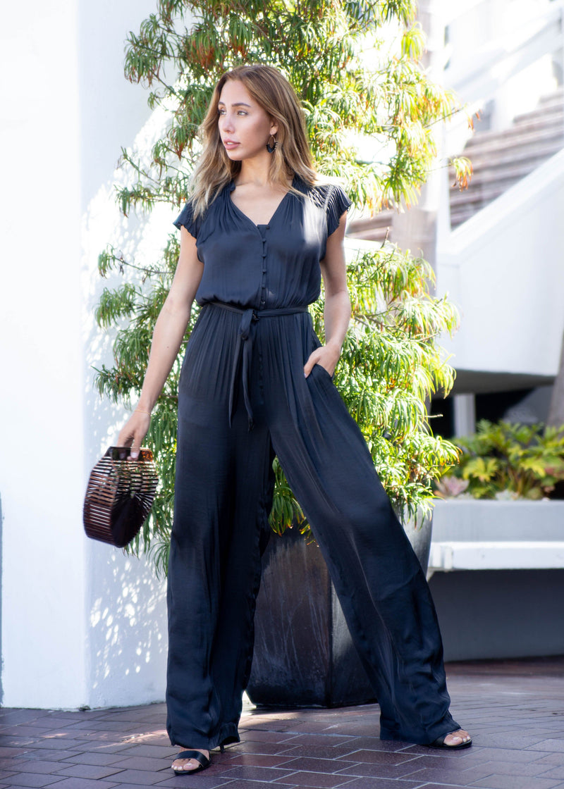 formal jumpsuit, slide, New In, wedding outfit, street style, satin look, satin jumpsuit, pretty summer jumpsuit, New arrivals, jumpsuit, summer trends 2019, summer formal attire