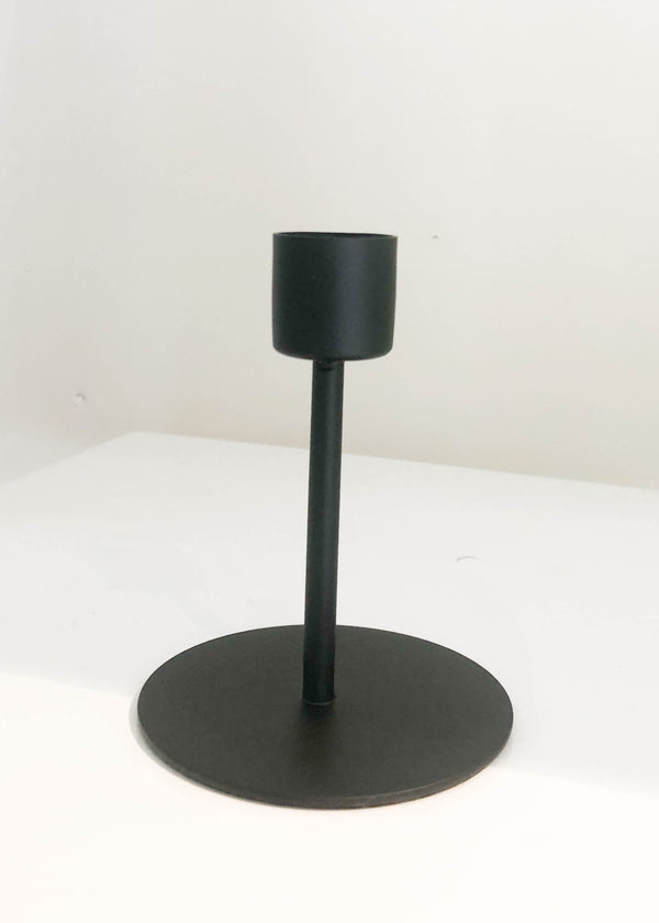 Black Taper Tall Candle Holder