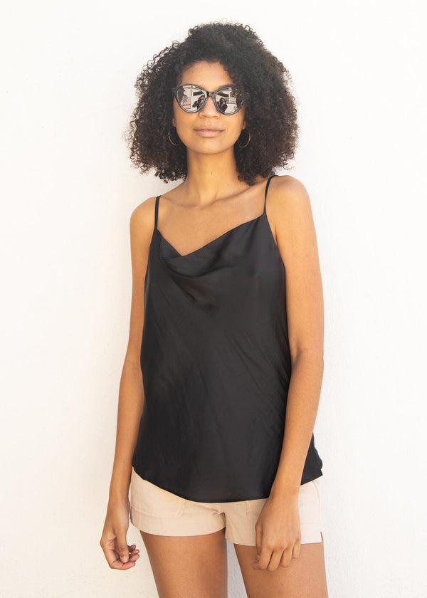 Swell Satin Camisole - Black