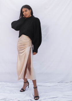Cuprien Ruched Skirt - Champagne