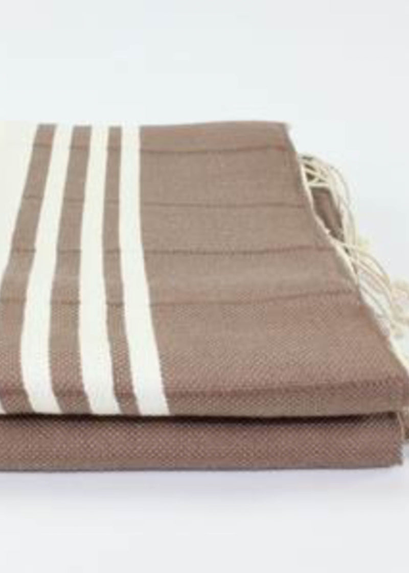 Turkish Towel - Brown Stripe
