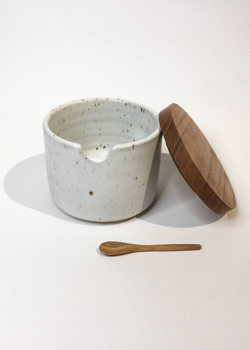 Speckled Clay Salt Cellar - AMĒNAH