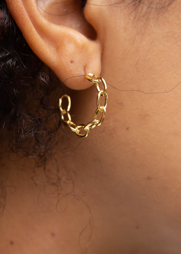 Gold Dipped Chain Hoops