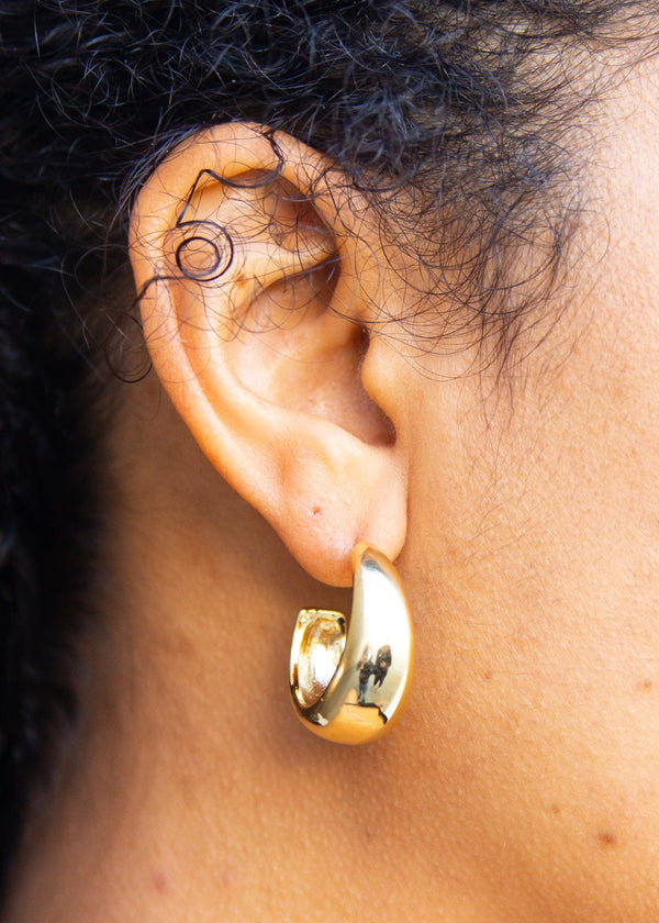 Gold Dipped Wide Hoops