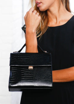 Crocodile Structured Crossbody - AMĒNAH