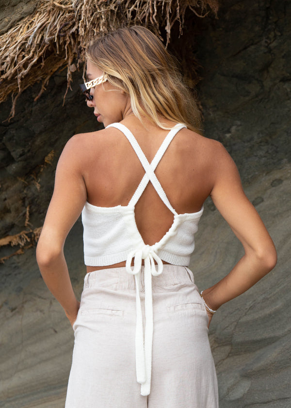 Knit Cross Back Top