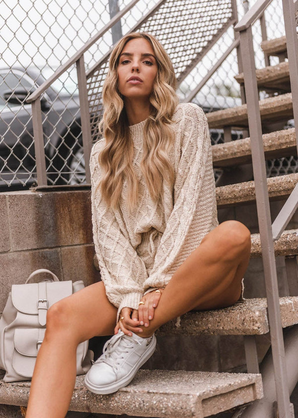 Multi Cable Knit Sweater