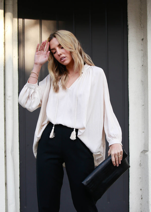 Tassel String Blouse