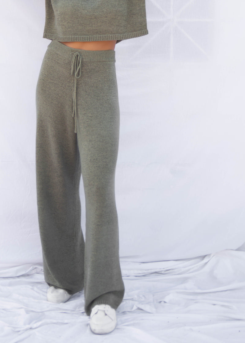 Egan Sweater Knit Pant - Moss