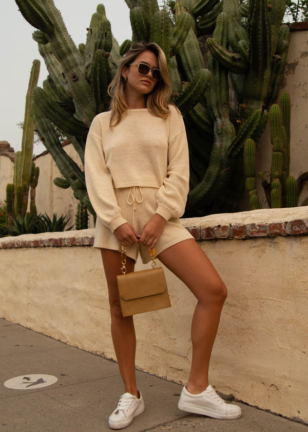 Egan Cropped Sweater - Cream