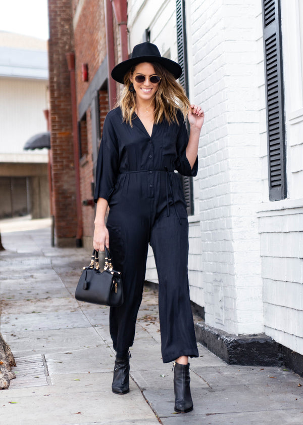 Boxy Satin Jumpsuit