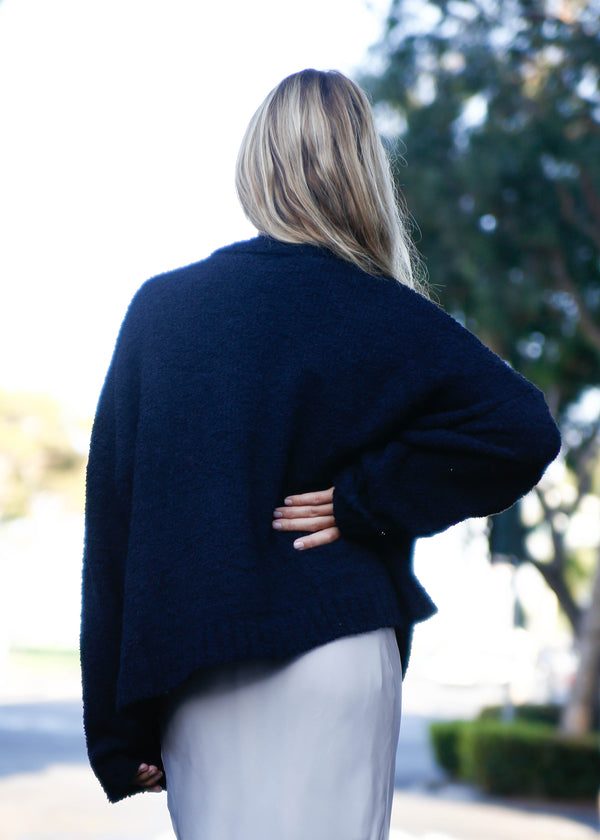 Teddy Knit Open Front Cardigan - AMĒNAH