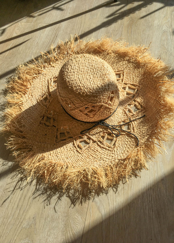 frayed edge straw hat, new arrivals, beach style, vacation style, summer trends, cute beach hat