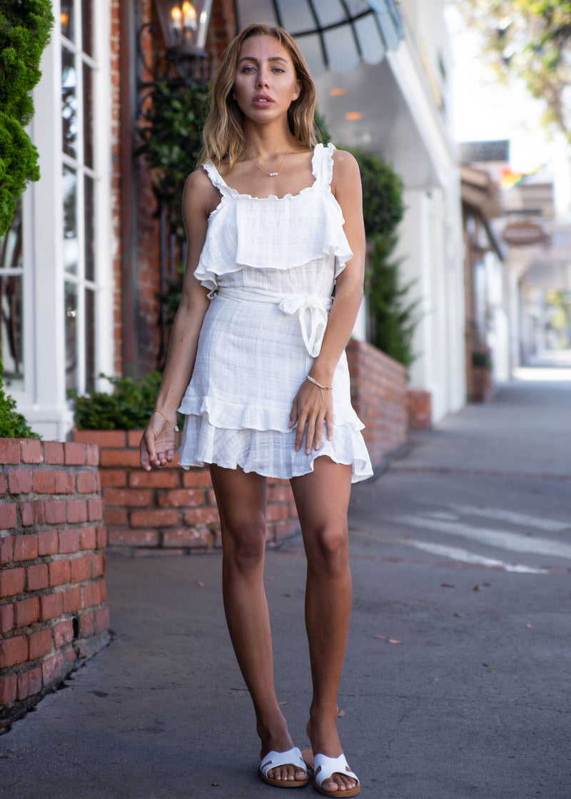Gauze Tiered Dress - AMĒNAH