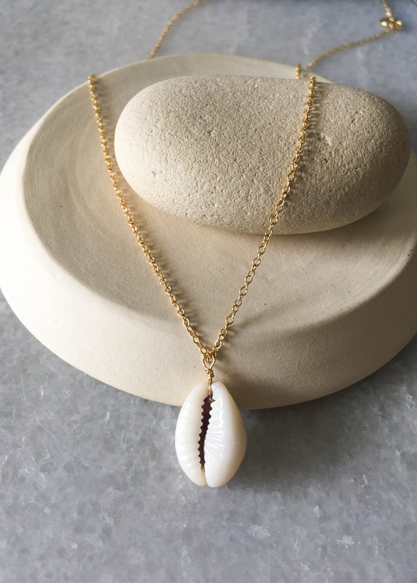 Gold Filled Puka Shell Necklace - AMĒNAH