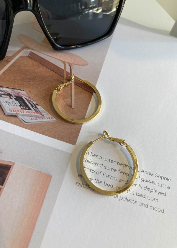 Classic 14k Gold Dipped Hoops