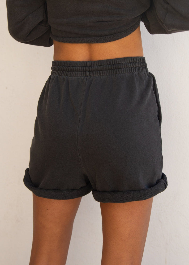 Whitecap Terry Short- Charcoal