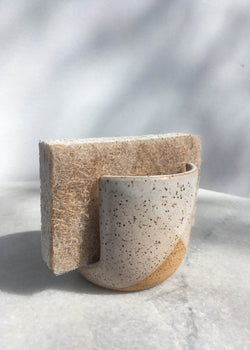 Hand Thrown Ceramic Sponge Holder - AMĒNAH