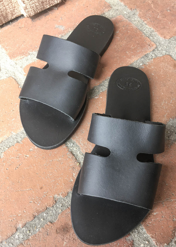 Handmade Leather Cut Out Sandals - AMĒNAH