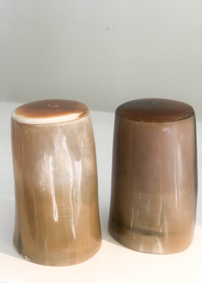 Horn Salt + Pepper Shakers