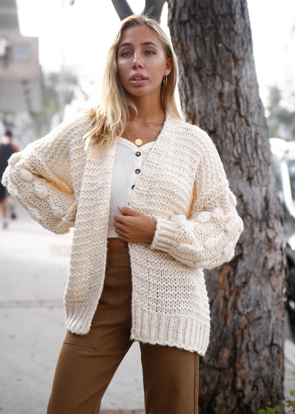 Knobby Knit Oversized Sweater